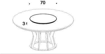 Elysee round dining table image 8