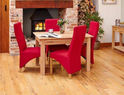 Mobel Solid Oak Modern Dining Table - 4 Seater image 2