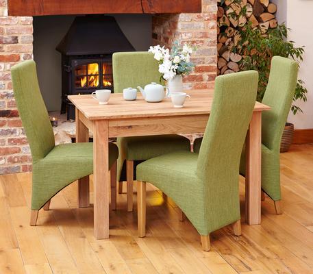 Mobel Solid Oak Modern Dining Table - 4 Seater image 4