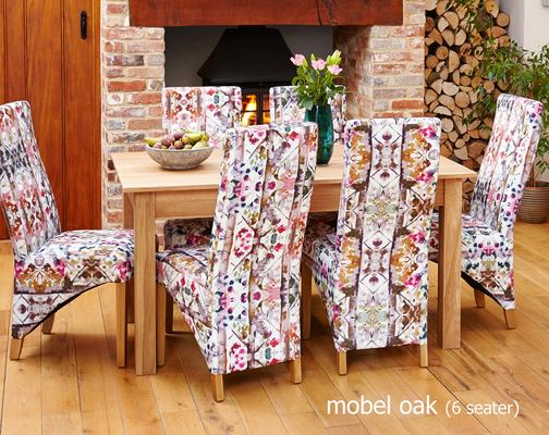 Mobel Solid Oak Modern Dining Table 150cm - 4/6 Seater image 2