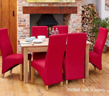 Mobel Solid Oak Modern Dining Table 150cm - 4/6 Seater image 3