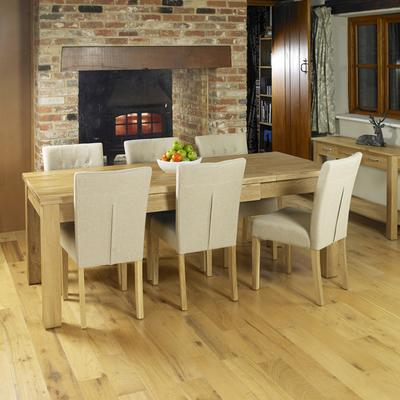 Mobel Extending Solid Oak Dining Table - Seats 4-8 image 4