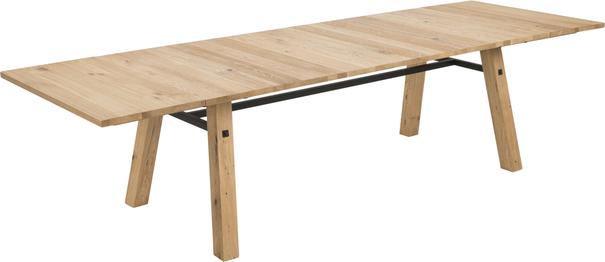 Stockhelm (Wild Oak) extending dining table image 2