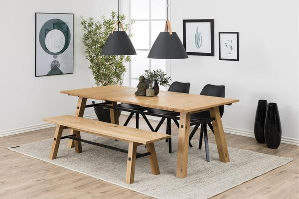 Stockhelm (Wild Oak) extending dining table image 7