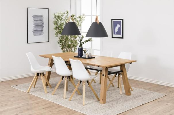 Stockhelm (Wild Oak) extending dining table image 8