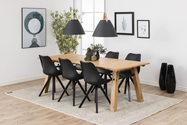 Stockhelm (Wild Oak) extending dining table image 9