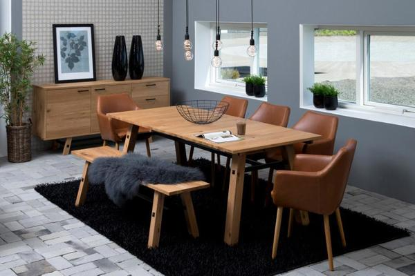 Stockhelm (Wild Oak) extending dining table image 9
