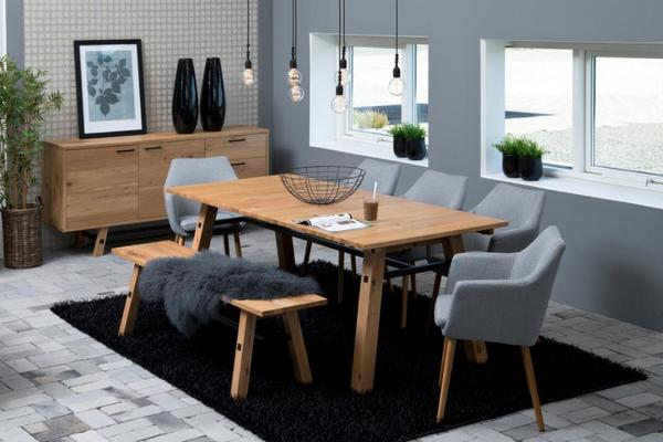 Stockhelm (Wild Oak) extending dining table image 10