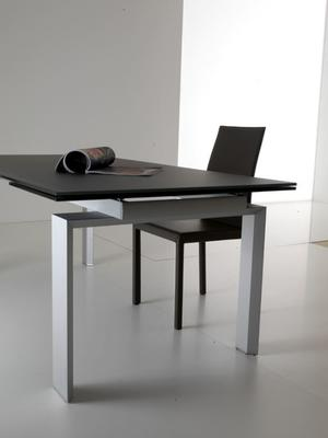 Alu glass extending dining table image 5