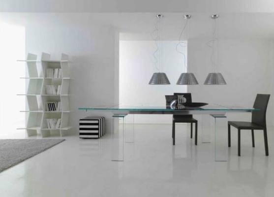 Light extending dining table image 4