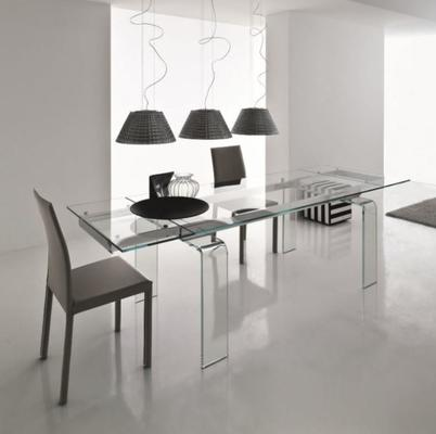 Light extending dining table image 5