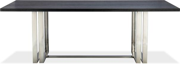 Lennox Black Top Dining Table Polished Brass or Steel image 2