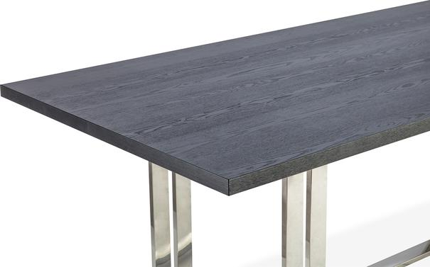Lennox Black Top Dining Table Polished Brass or Steel image 4