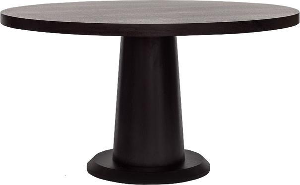 Ancora Dark Wenge Oak Round Dining Table 140cm image 2
