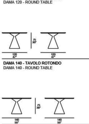 Dama round dining table image 4