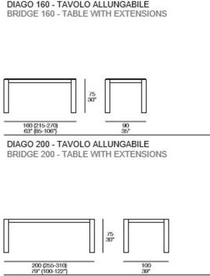 Diago extending dining table image 4