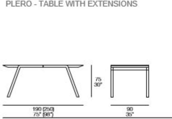 Plero extending dining table image 3