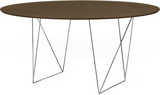 Row (Walnut) dining table image 3