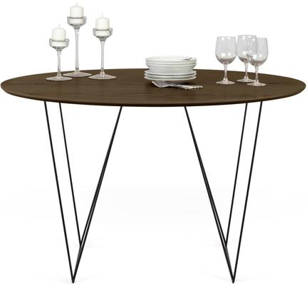 Row (Walnut) dining table image 6