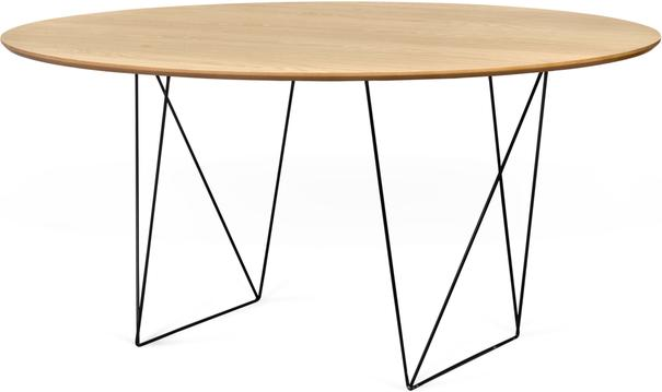Row (Oak) dining table image 5