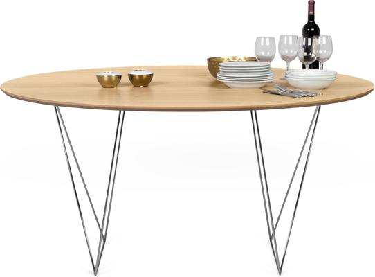 Row (Oak) dining table image 10