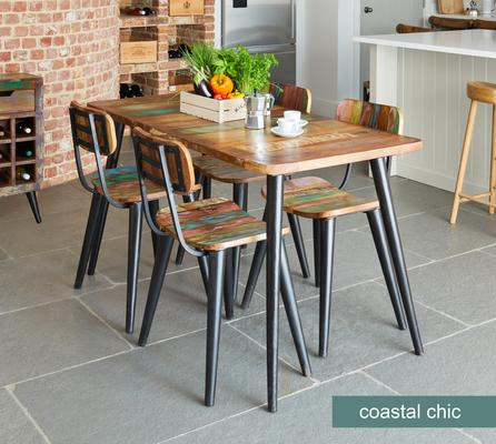 Coastal Chic Large Rectangular Dining Table Reclaimed Timber image 2