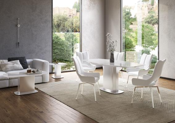 Olivia swivel extending dining table image 5