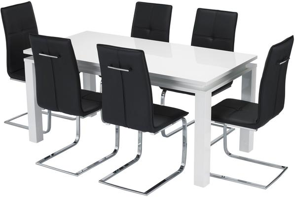 Bari (LED) dining table and Opus chairs image 6
