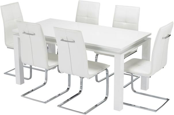 Bari (LED) dining table and Opus chairs image 10