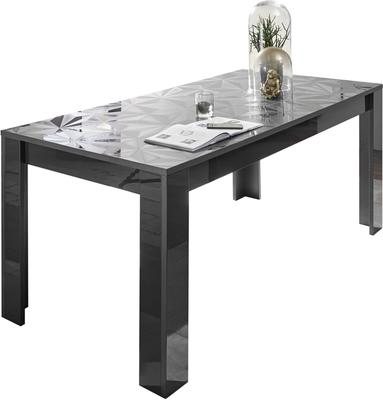 Brescia Dining Table 180cm - Gloss Anthracite with Grey Stencil image 3