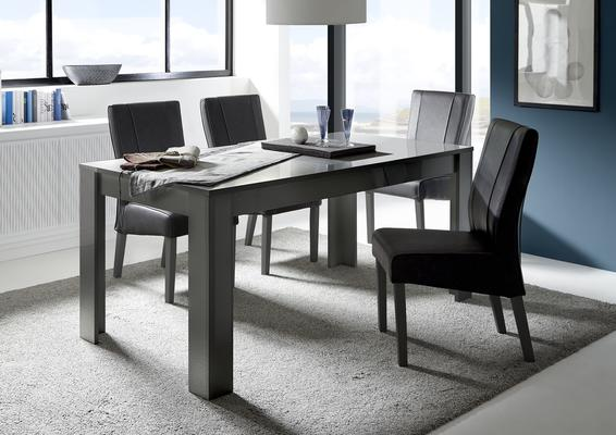 Treviso Dining Table - Gloss Grey Finish