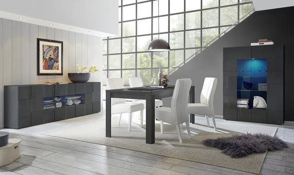 Treviso Dining Table - Gloss Grey Finish image 2