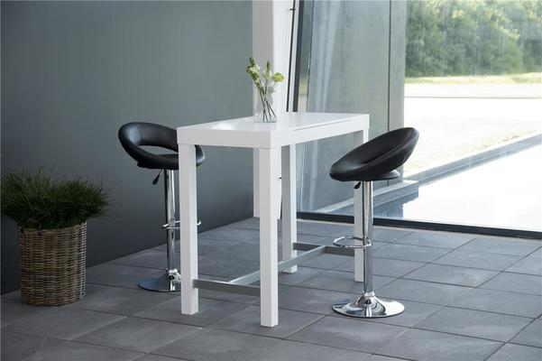 Angala bar table and pluma barstools image 2