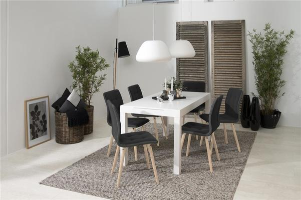 Angala dining table and Fridi chairs