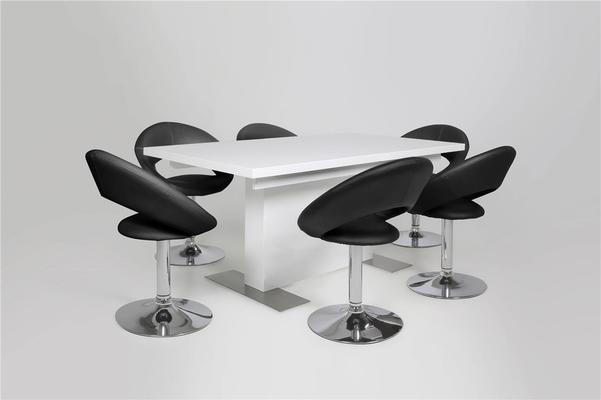Brock extending table and Pluma chairs image 2