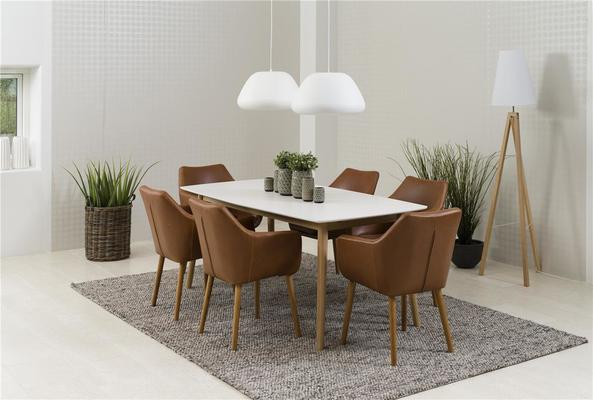 Nagane extending table and Nori chairs
