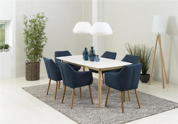 Nagane dining table and Nori (fabric) chairs