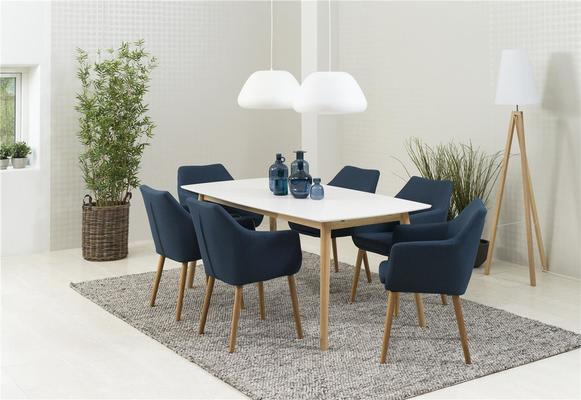 Nagane dining table and Nori (fabric) chairs image 2