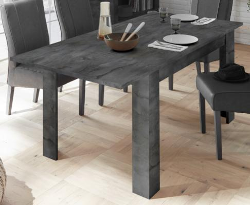 Como 137cm Dining Table with 48cm Extension - Anthracite Finish image 2