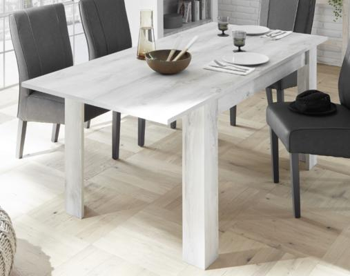 Como 137cm Dining Table with 48cm Extension - White Pine Finish image 2