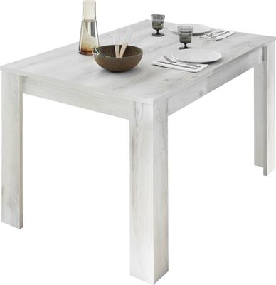 Como 137cm Dining Table with 48cm Extension - White Pine Finish