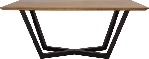Tavolo 200cm Dining Table - Oak and Black Steel Finish