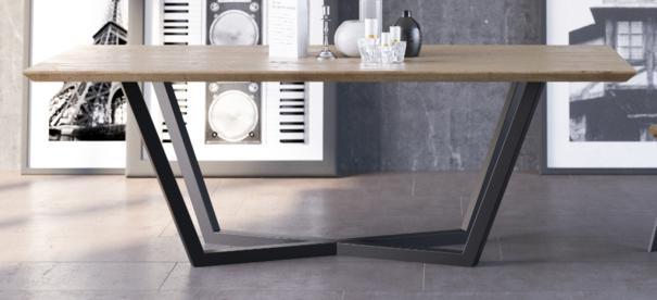 Tavolo 200cm Dining Table - Oak and Black Steel Finish  image 2