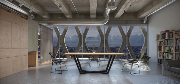 Tavolo 200cm Dining Table - Oak and Black Steel Finish  image 3