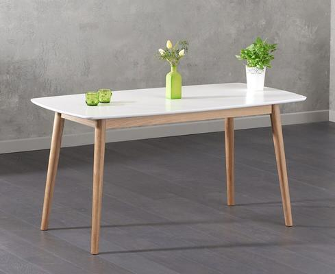 Harstad Oak and white dining table