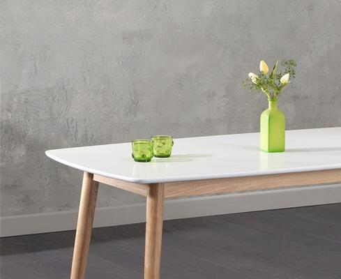 Harstad Oak and white dining table image 2