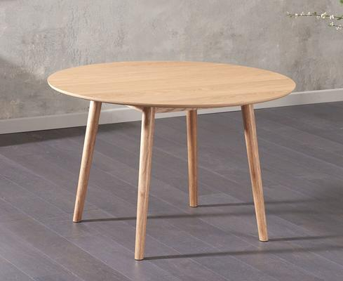 Harstad Oak round dining table image 2