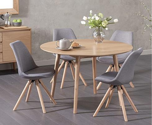 Harstad Oak round dining table image 4