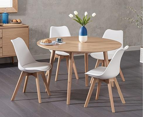 Harstad Oak round dining table image 5