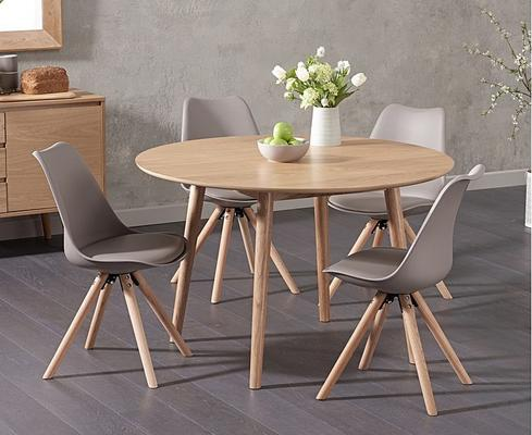 Harstad Oak round dining table image 6